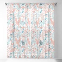 Coral Reef Sheer Curtain
