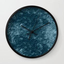 Peacock teal velvet Wall Clock