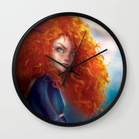 merida Wall Clocks featuring Merida by ChrySsV