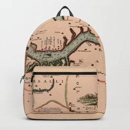 Map Of Gambia 1745 Backpack