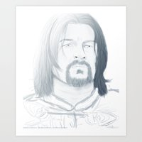gondor Art Prints featuring Boromir of Gondor by Daniella Walker