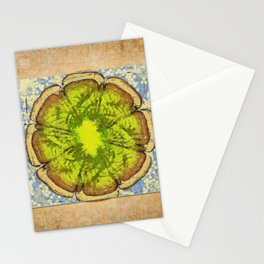 Unhomogeneously Web Flowers  ID:16165-145643-84011 Stationery Cards