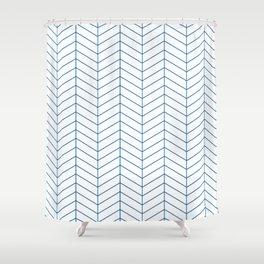 Herringbone - Princess Blue Shower Curtain