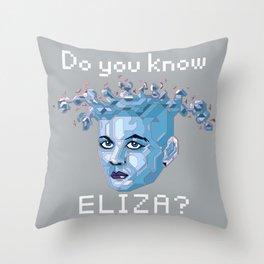 A.I. ELIZA Throw Pillow