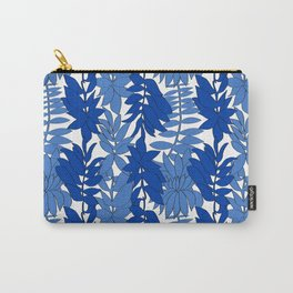 60's Chinoiserie Vines in White + Blue Carry-All Pouch