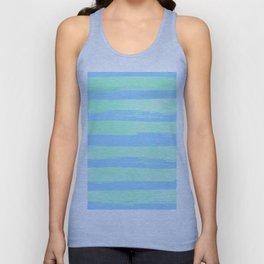 Trendy Stripes Blue Raspberry + Mint Meringue Unisex Tank Top