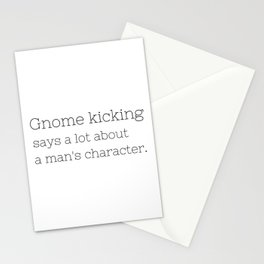 Gnome kicking - GG Collection Stationery Cards