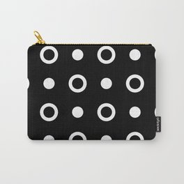 Polka Dot Pattern 243 Black And White Carry-All Pouch