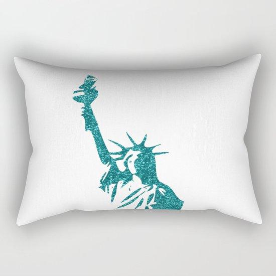 Statue of Glitter Rectangular Pillow