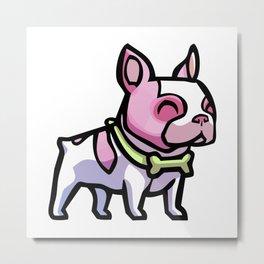 Pink Gorilla X Enfu Bulldog Metal Print