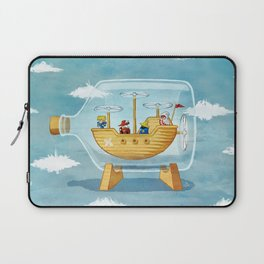 AIRSHIP IN A BOTTLE Laptop Sleeve
