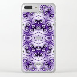 Violet Bloom Clear iPhone Case