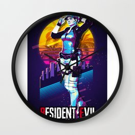 resident evil retro art 3 Wall Clock