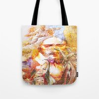 faith Tote Bags featuring Faith by Joe Ganech