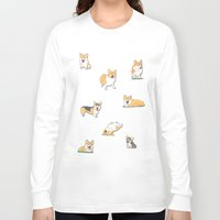 corgi Long Sleeve T-shirts featuring Corgi by okayleigh