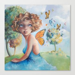 Amelia, Courage to Fly Canvas Print
