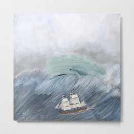 revenge of the whale Metal Print