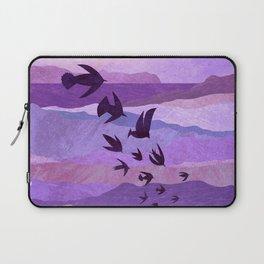 Purple Mountains Birds Take Flight Laptop Sleeve