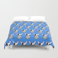 frenchie Duvet Covers featuring frenchie by turddemon