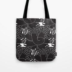 BLACK HANDS Tote Bag