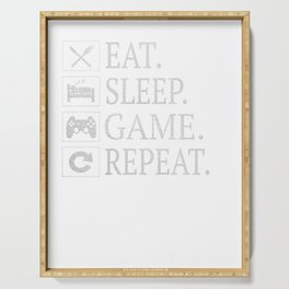 Funny Eat Sleep Game Repeat Gift for Video Games Lover Gifts Serving Tray