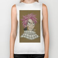 fairy tail Biker Tanks featuring Natsu - Fairy Tail by Kelly Katastrophe