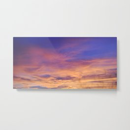 COME AWAY WITH ME - Autumn Sunset #1 #art #society6 Metal Print