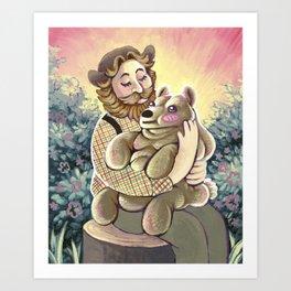 Bear Lumps Art Print