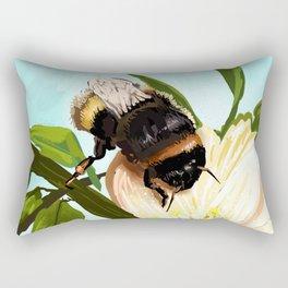 Bee on flower 4 Rectangular Pillow