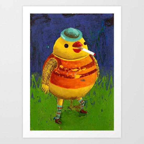 birdy man Art Print