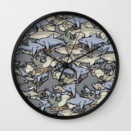 Save ALL Sharks! Wall Clock