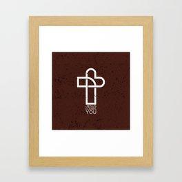 Jesus Loves You Framed Art Print