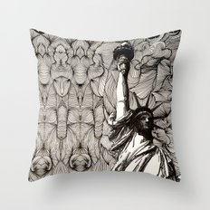 Lady Liberty Got nothing on me. Throw Pillow