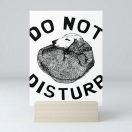 Do Not Disturb Funny Sleeping Dog Mini Art Print