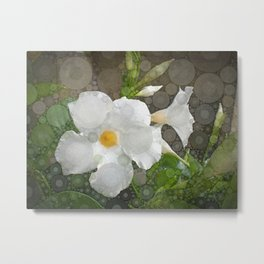 White Flower Abstracted Metal Print