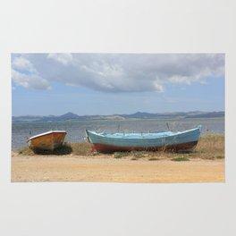 Old Rusty Boats Rug