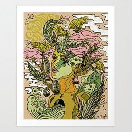 Portuguese garden Art Print