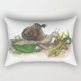 Little Worlds: Snail and Cricket Rectangular Pillow