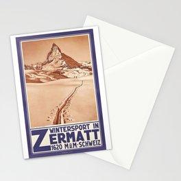 Matterhorn - Vintage Ski Poster Stationery Cards