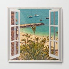 Beach Dock | OPEN WINDOW ART Metal Print