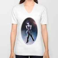 sandman V-neck T-shirts featuring Death by raulovsky (Raúl Ramos Melo)