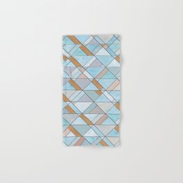 Shifting Pattern Turquoise and Gold Hand & Bath Towel