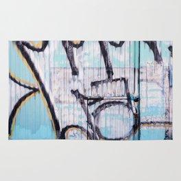 Turquoise Graffiti Rug