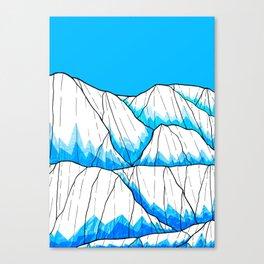 Glacier hills Canvas Print