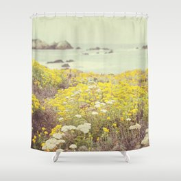 Vintage California Coast Shower Curtain
