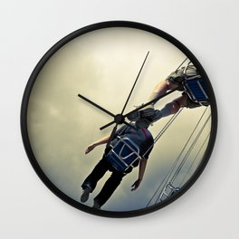 Flying Bodies Wall Clock