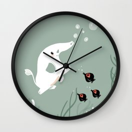 Ocean Elephant Wall Clock