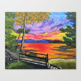 Canandaigua Trail by Mike Kraus - art painting finger lakes upstate ny new york sunset sunrise paths Canvas Print