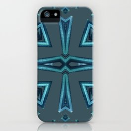 Blue Kaleido Palm iPhone Case