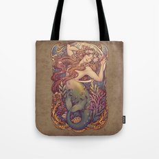 Andersen Little Mermaid Nouveau Tote Bag
